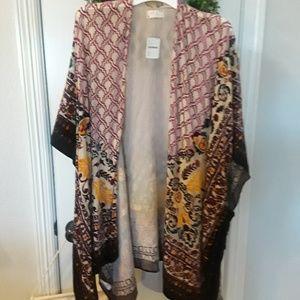 NWT Free People Velvet Kimono